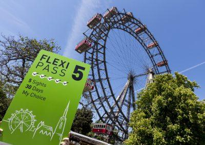 Flexi PASS vor dem Wiener Riesenrad im Prater